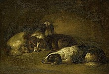 Beeldemaker, Johannes: Ruhende Hunde