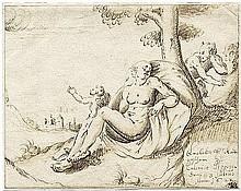 Deutsch: 1622. Ruhende Venus von einem Satyr belauscht