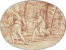 Italienisch: um 1680. Das Versteckspiel im Wald