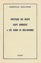 Boltanski, Christian: Inventaire des Objets