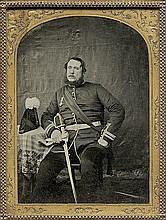 Daguerreotypes / Ambrotypes: Portrait of an officer; Portrait of a couple; portrait of a man