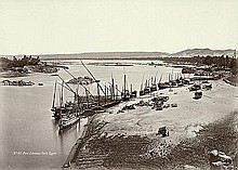 Béchard, Henri: Views of Egypt: Port of Assuan; Thèbes