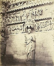 Bisson frères, Louis Auguste & August Rosalie: Details of the North Portal of Reims Cathedral