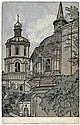 Russische Kunstpostkarten: Lansere, Lukomski, Sokolow, Ostroumowa. 1898-1914