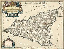 Jaillot, Hubert: La Sicile divisée en ses trois provinces