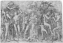 Mantegna, Andrea: Bacchanal mit Weinpresse