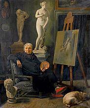 Rørbye, Martinus Christian Wedseltoft: nach. Der Maler Christian August Lorentzen in seinem Atelier