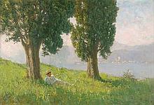 Possart, Felix: Siesta unter Bäumen am Comer See im Sommer