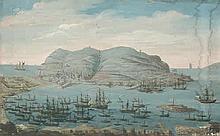 Italienisch: um 1840. Der Fels von Gibraltar