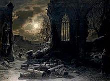 Kreutzer, Felix: Ruine einer gotischen Kapelle bei Vollmondnacht