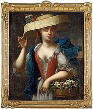 Fehling, Heinrich Christoph: Bildnis einer Dame als Flora