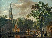 Niederländisch: um 1780. Ansicht von Amsterdam mit der Westerkerk
