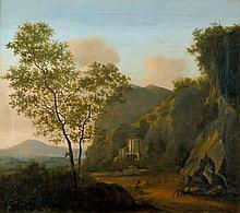 Niederländisch: 18. Jh. Italianisante Landschaft mit Rundbau