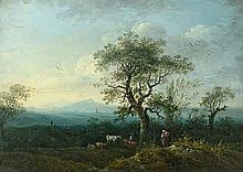 Münchener Schule: um 1840. Oberbayerische Landschaft  im Vorfrühling