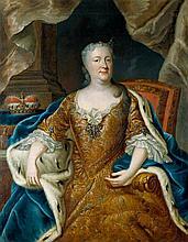 Francke, Bernhard Christoph - zugeschrieben: Bildnis der Herzogin Antoinette Amalie von Braunschweig