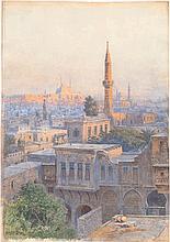 Fischer, Ludwig Hans: Blick über Kairo mit der Alabastermoschee