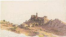 Deutsch: um 1840. Blick auf Olevano mit