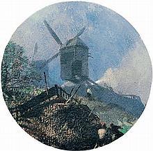 Hoguet, Charles: Windmühle auf einem Hügel