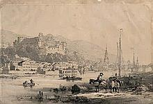 Verhas, Theodor: Blick auf die Altstadt Heidelbergs