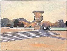 Zuber, Anne: Die Terrasse in Versailles mit dem großen Bassin
