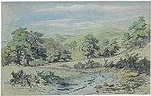 Haugk, Gustav von: Landschaft bei Civitella