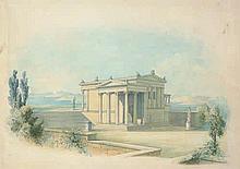 Graeb, Carl Georg Anton: Griechischer Tempel in der Ägäis