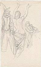Schwind, Moritz von: Skizzenblatt mit drei Figuren