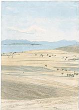 Spreti, Karl Graf von: Landschaft mit Ausblick auf den Saronischen Golf