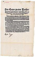 Sophia Margaretha, Markgräfin zu Brandenburg-Ansbach: Signierte Bekanntmachung 1638