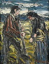 Holmead: Mann und Frau bei der Feldarbeit
