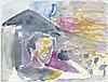 Paladino, Mimmo: Selbstbildnis vor Casa della Croce auf der Insel Stromboli, Mimmo Paladino, €900