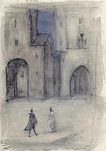 Meid, Hans: Paar auf der Piazza