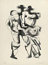 Zadkine, Ossip: Deux Personnages