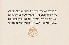 Goethe, Johann Wolfgang von und Ernst Ludwig Presse: Trilogie der Leidenschaft. ELP 1912