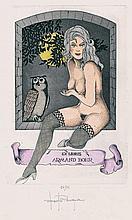 Erotische Exlibris: Album mit 55 meist erotischen modernen Exlibris