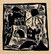 Zehder, Hugo und Feininger, Lyonel - Illustr.: 1919. Neue Blätter für Kunst und Dichtung (L. Feininger)