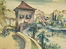 Kuhfuss, Paul: Dorf in Italien