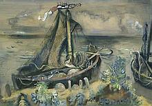 Kuhfuss, Paul: Fischerboote an der Ostsee