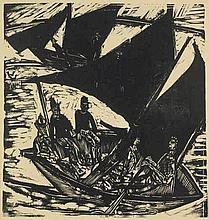 Kirchner, Ernst Ludwig: Segelboote bei Fehmarn