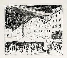 Kirchner, Ernst Ludwig: Der Altmarkt in Dresden mit Jahrmarkt