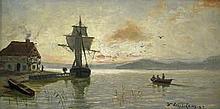 Leistikow, Walter: Abend an der Nordsee