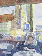 Felixmüller, Conrad: Berlin, Café am Kurfürstendamm