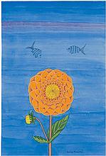 Minami, Keiko: Chrysanthème orange et Poissons (Orange Chrysanthemum and Fish)