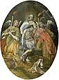 Deutsch, um 1580: Pietà begleitet von Engeln