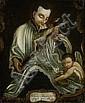 Italienisch, um 1790: Der hl. San Luigi Gonzaga mit dem Kruzifix