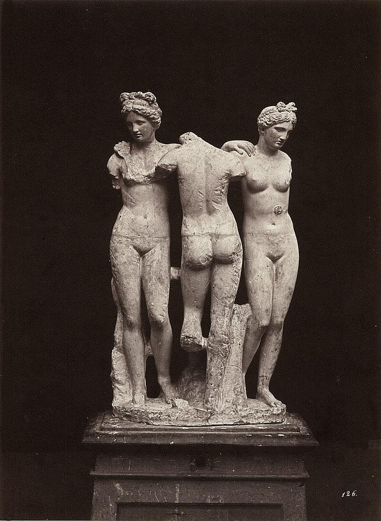Alinari, Leopoldo: Roman statue - The Three Graces