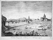 Zocchi, Giuseppe: Veduta d'una parte di Firenze presa dalla Vaga Loggia