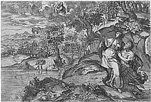 Angolo, Marco d´: Die tiburtinische Sibylle zeigt Augustus die Erscheinung der Jungfrau