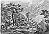 Bol, Hans - nach: Landschaft mit einem Dorf und Wagen mit zwei Pferden; Landschaft mit einiem Schloss hinter Hütten, links zwei Schäfer