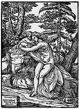 Boldrini, Nicolo: Venus und Amor in einer Landschaft